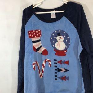 Holiday Secret Treasures Plush pajama top Sz 3X